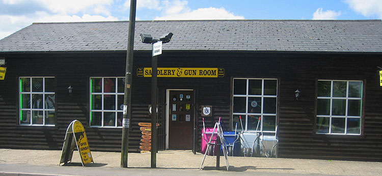 Saddlery and Gunroom store front